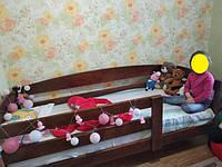 Ліжко дерев'яне з масиву вільхи спальне місце 190*80