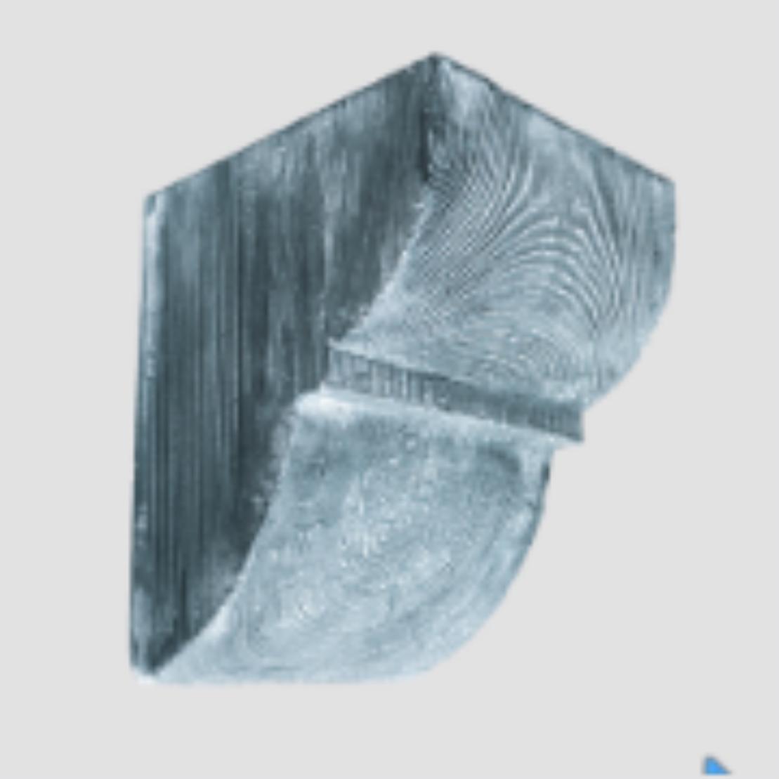 Консоль ED 017 classic сіра 6х9 , лепний декор із поліуретану