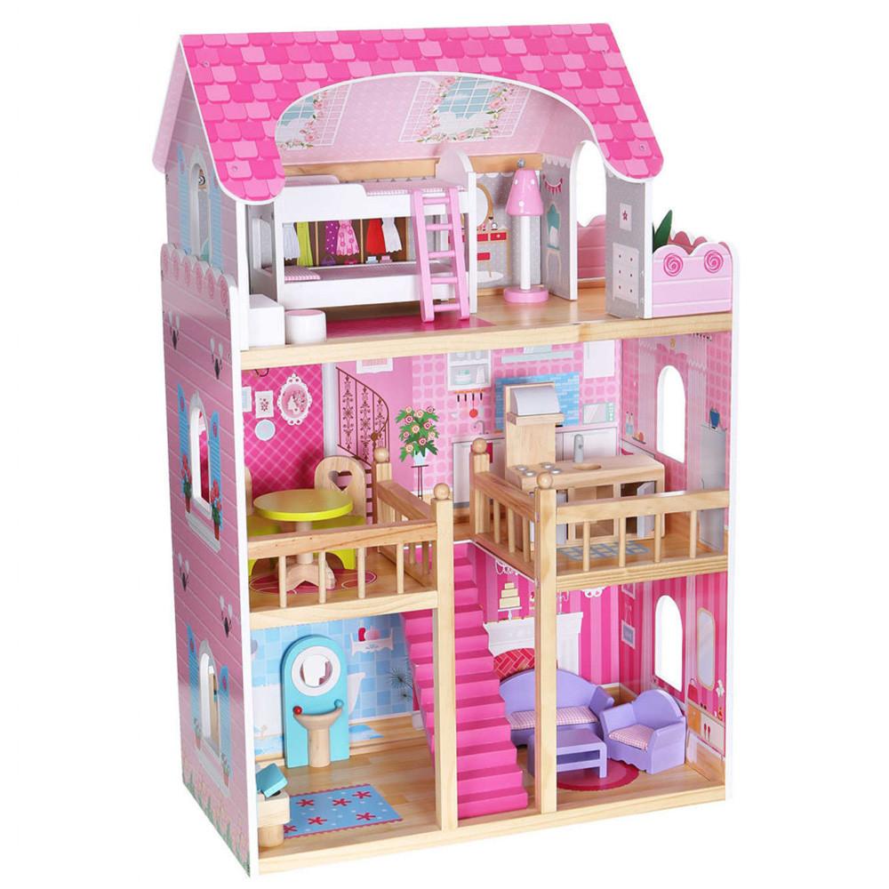 Деревянный кукольный домик MD 1039