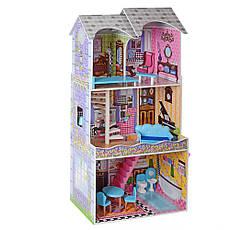 Деревянный кукольный домик MD 2412 с мебелью, фото 3