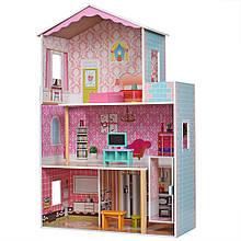 Дерев'яний ляльковий будиночок MD 2579 з меблями і ліфтом