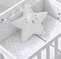 Набір Micuna Claire покривало+бортик+подушка для колиски, білий