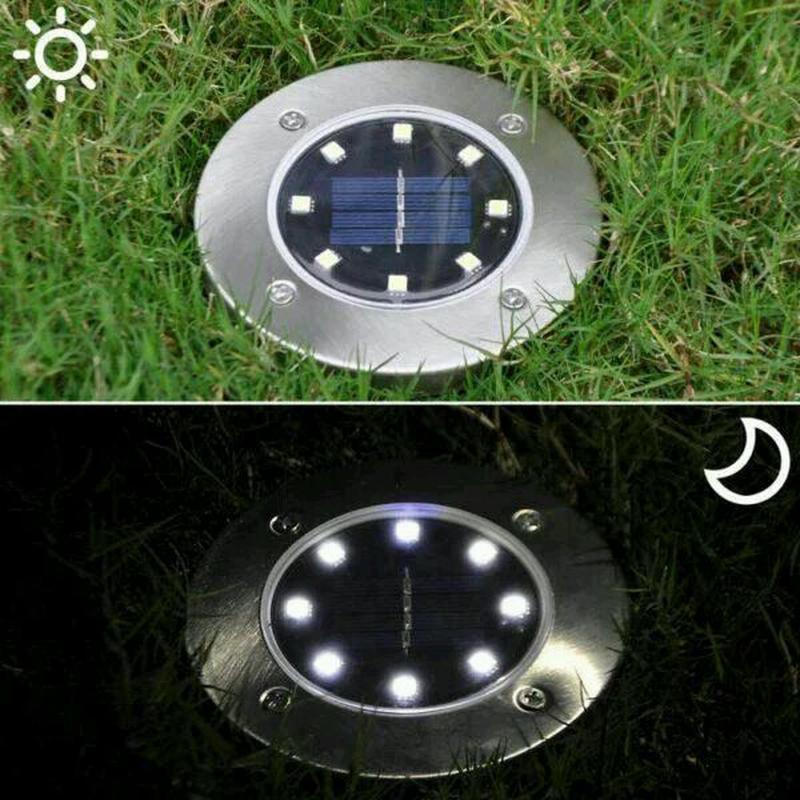 Садовый уличный светодиодный фонарь-подсветка на солнечной батарее Solar Pathway Lights!