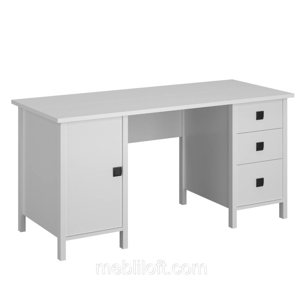 Стол письменный 1D3S_155 Марокко белый