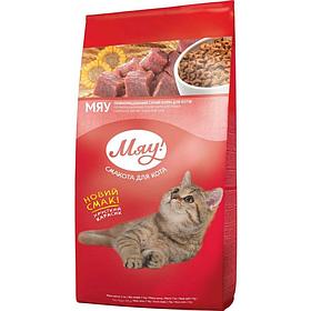 Сухий корм Meow для котів 0,3 кг хрусткий карасик