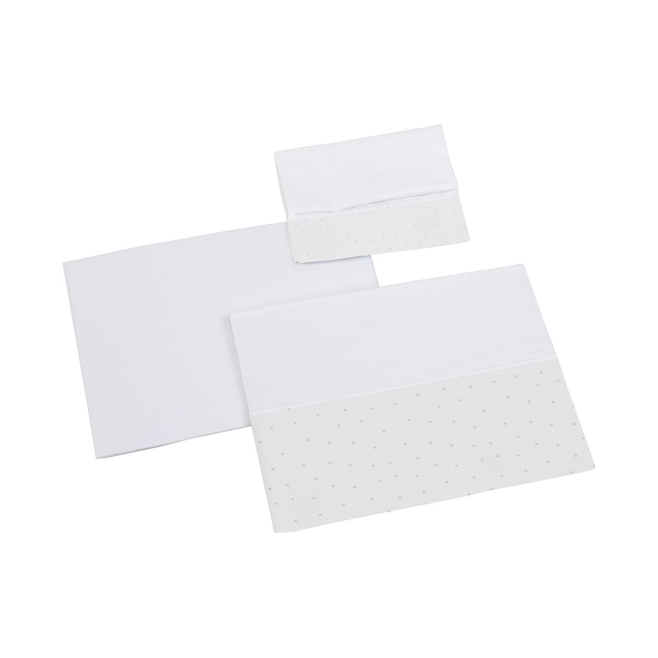 Постельное белье для колыбели Micuna Shine 3 предмета, белый