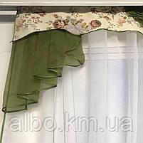 Тюль с ламбрекеном для спальни зала кухни комнаты, готовый красивый тюль для комнаты детской гостинной,, фото 4