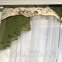 Тюль с ламбрекеном для спальни зала кухни комнаты, готовый красивый тюль для комнаты детской гостинной,, фото 2