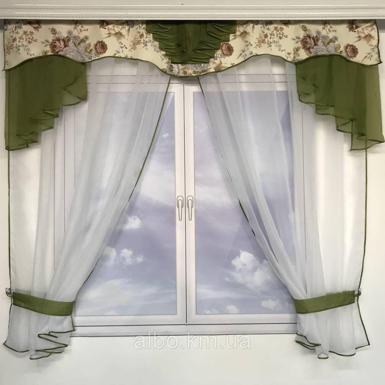 Тюль с ламбрекеном для спальни зала кухни комнаты, готовый красивый тюль для комнаты детской гостинной,
