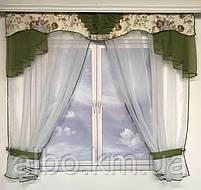 Тюль с ламбрекеном для спальни зала кухни комнаты, готовый красивый тюль для комнаты детской гостинной,, фото 3