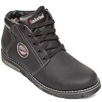 Мужские ботинки Timberland польская кожа, черные Р. 40 45