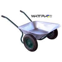 ⭐ Тачка садовая FORTE WB6407 двухколесная, объем вода / песок 70/140 л, грузопод-сть 120 кг