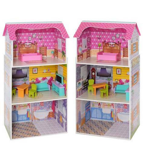 Деревянный кукольный домик MD 1549, фото 2