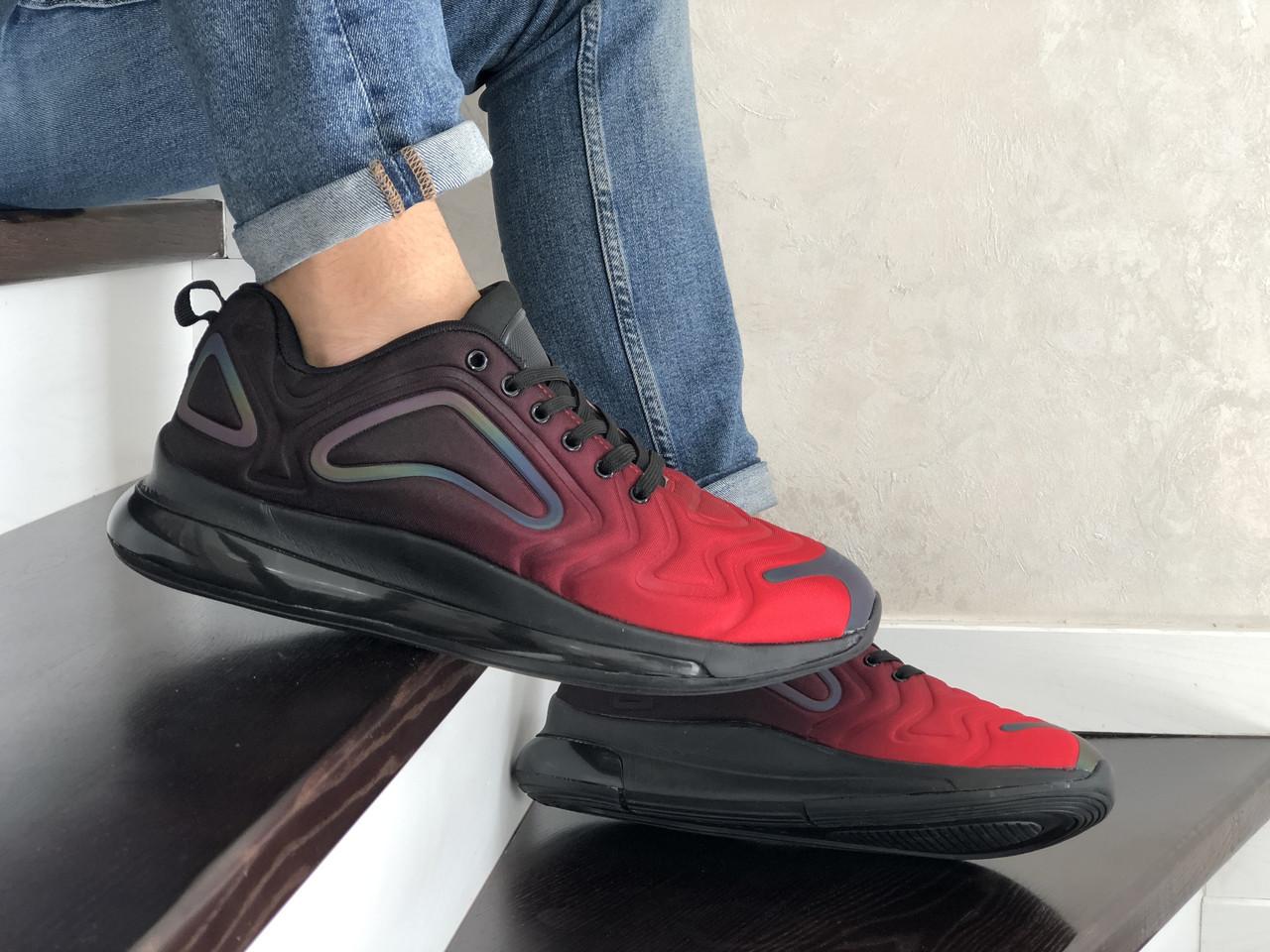 Повсякденні чоловічі кросівки,Max,великі розміри,чорні з червоним