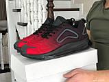 Повсякденні чоловічі кросівки,Max,великі розміри,чорні з червоним, фото 2