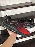 Повсякденні чоловічі кросівки,Max,великі розміри,чорні з червоним, фото 3