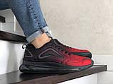 Повсякденні чоловічі кросівки,Max,великі розміри,чорні з червоним, фото 4