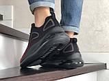 Повсякденні чоловічі кросівки,Max,великі розміри,чорні з червоним, фото 5