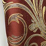 Готові жакардові штори Штори з люрексом Жакардові штори бордові Штори на тасьмі, фото 8