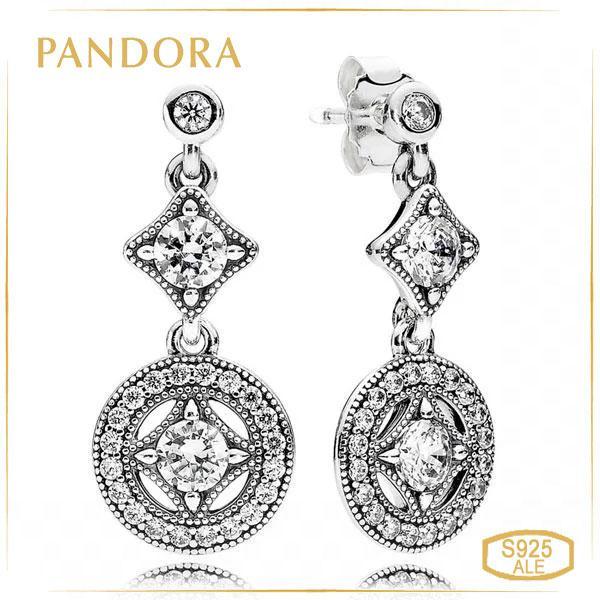 Пандора Серьги Винтажное очарование Pandora 290722CZ