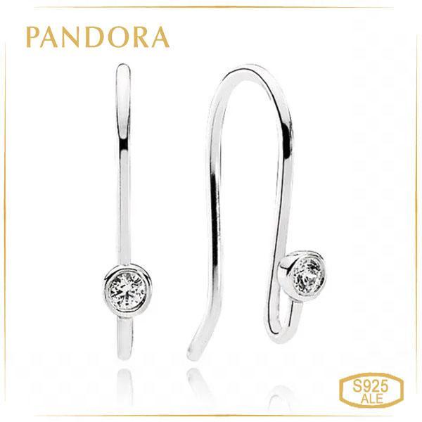 "Пандора Основа для серег ""Искорки"" Pandora 290677CZ"