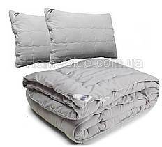 Одеяло евро 200х220 GREY + 2 подушки 50х70 двуспальное антиаллергенное