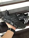 Мужские кроссовки Adidas (черные) 10312 спортивные демисезонные кроссы, фото 2