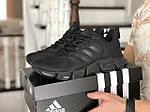Мужские кроссовки Adidas (черные) 10312 спортивные демисезонные кроссы, фото 3
