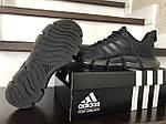 Мужские кроссовки Adidas (черные) 10312 спортивные демисезонные кроссы, фото 4