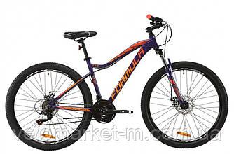 """Велосипед 27.5"""" Formula ALPINA AM 17.5"""" 2020 фиолетовый с оранжевым"""