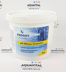 Froggy «рН- Minus Granules» препарат для снижения уровня pH в гранулах (5 кг)