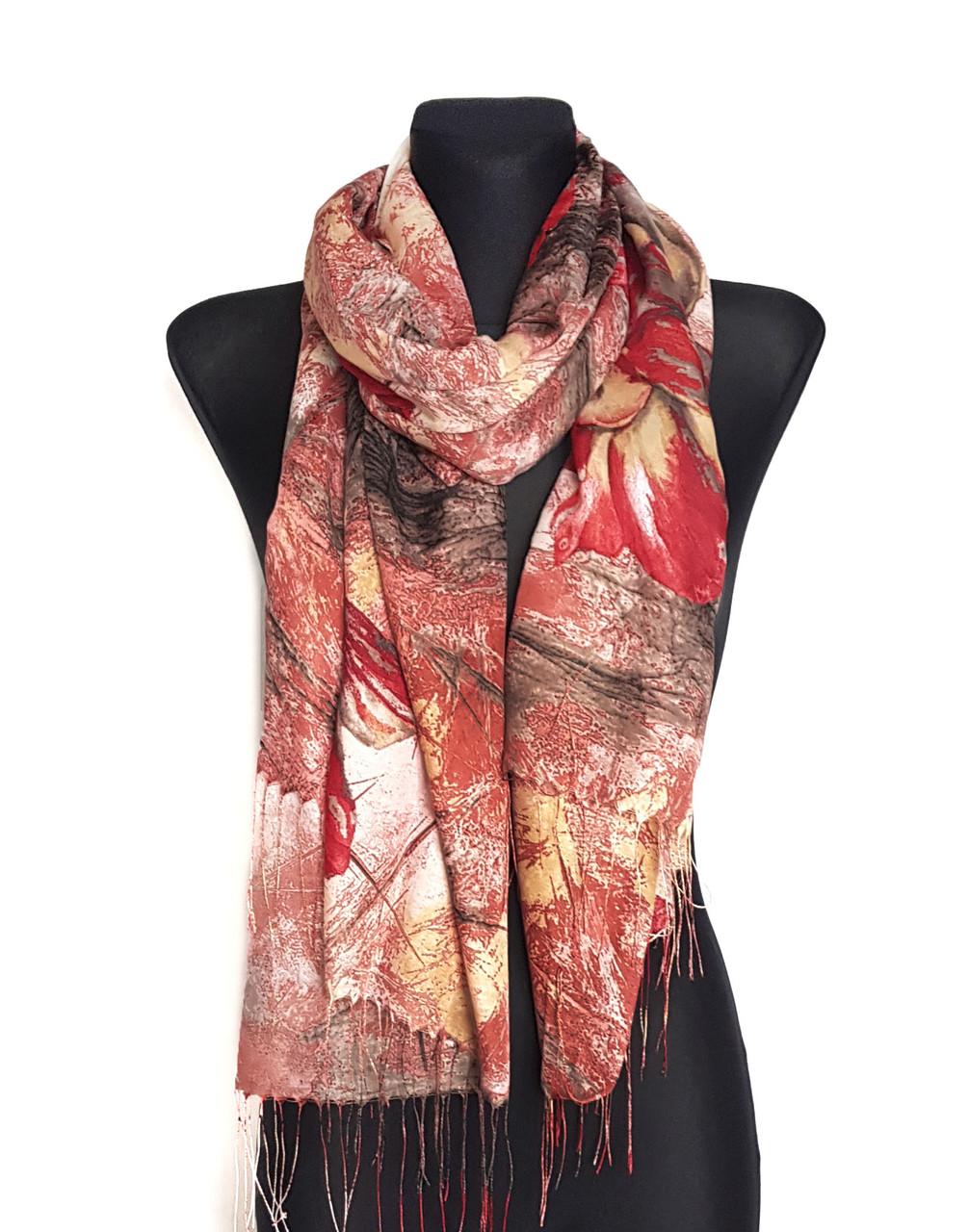 Палантин шарф весняний легкий Ейфелина