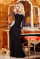 Длинное черное вечернее платье Seventeen 44-46 размеры