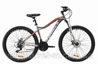 """Велосипед 27.5"""" Formula MYSTIQUE 17.5"""" 2020 серебристо-оранжевый с белым"""