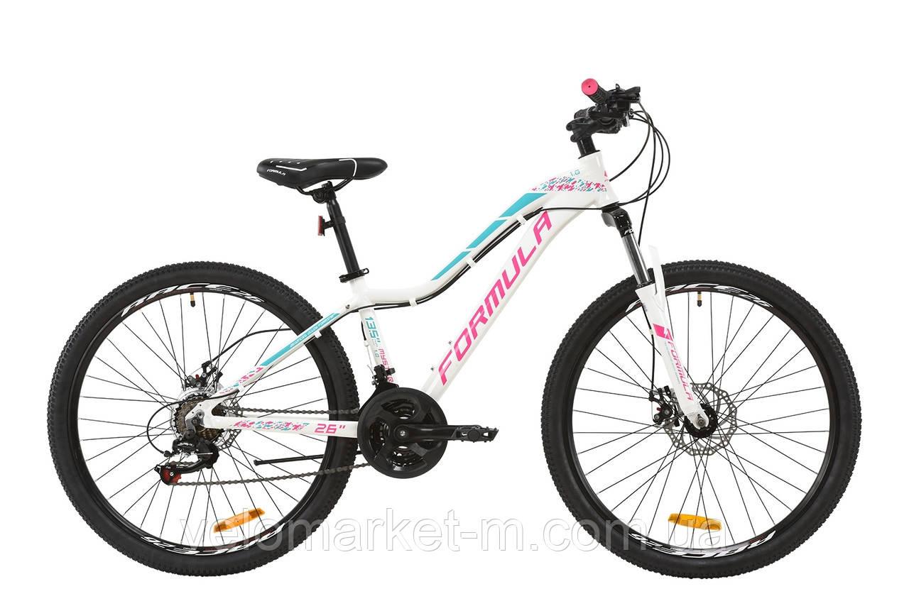"""Велосипед 27.5"""" Formula MYSTIQUE 17.5"""" 2020 бело-малиновый с бирюзовым"""