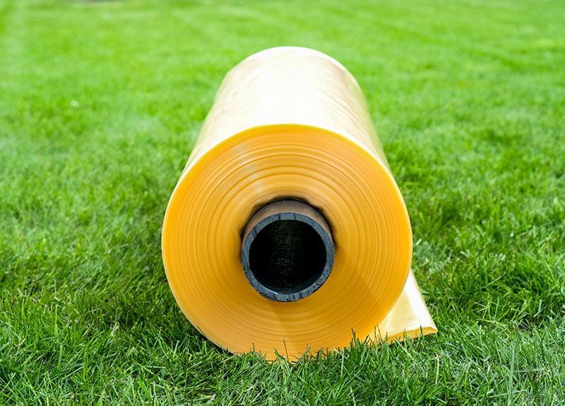 Пленка пвд желтая (вторичка) 150 мкм 6м x 50м. Полиэтилен
