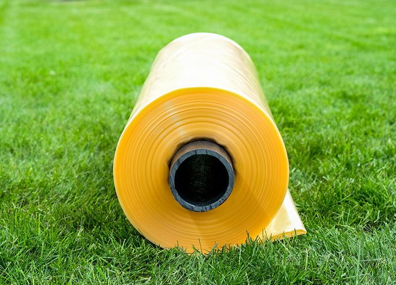Плівка пвд жовта (вторинна) 200 мкм 6м x 50м. Поліетилен