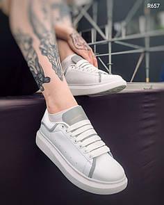 Мужские кроссовки Alexander Mcqueen Reflective White 42