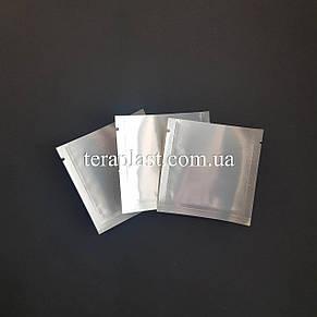Пакет саше серебро + прозрачная сторона 70х70 без зип, фото 2