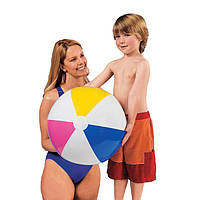 Мяч большой пляжный надувной 61см. Мяч Intex 59030, 4-цветный