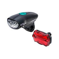 Комплект света Фара + стоп JING YI JY-822C+004 на батарейках с креплением