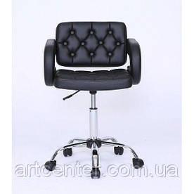 Косметичне крісло Jessy, на колесах, регулюється по висоті, кожзам