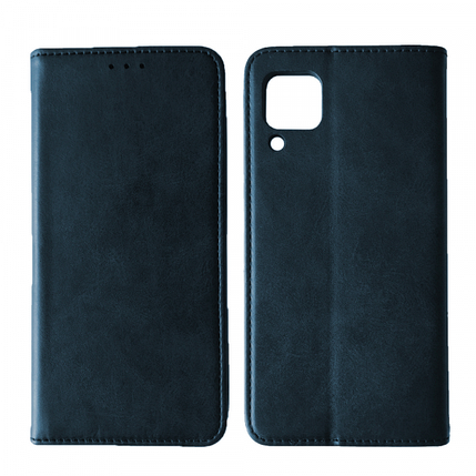Чехол-книжка Black TPU Magnet for Samsung A12 (A125) Blue, фото 2