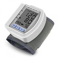 Тонометр электронный на запястье автоматический CK-102s аппарат для измерения кровяного давления и пульса