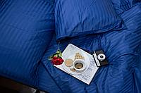 """Семейное постельное бельё """"Элит"""" (14636) цветной страйп-сатин люкс, фото 1"""