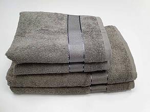 Полотенце махровое  Серый (Руки 40/70см)