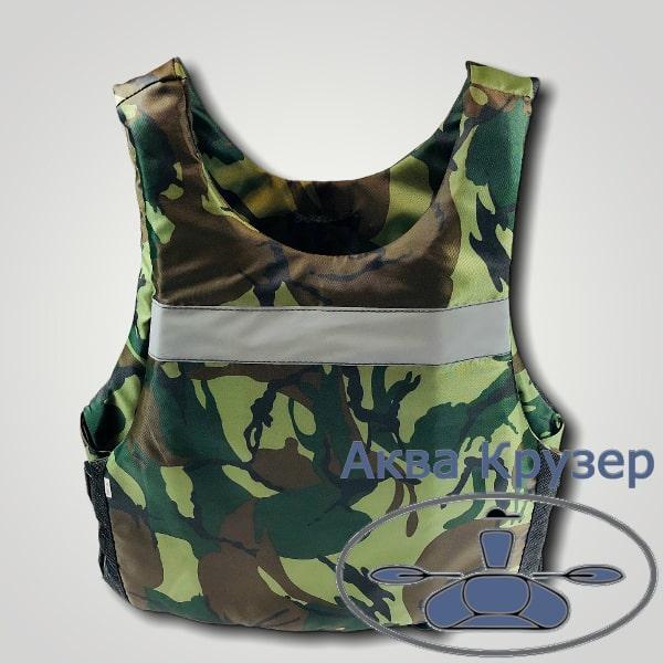 Страховочный жилет майка 100-120 кг сертифицированный универсальный цвет камуфляж спасательные жилеты
