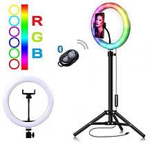 Кільцева світлодіодний RGB LED лампа MJ26 + штатив 2 м