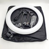 Кільцева світлодіодна лампа RL-18 (лампа для фото або макіяжа, діаметр 46 см)