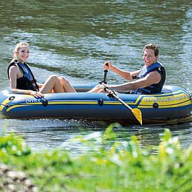Надувная Лодка Двухместная Intex 68367 с веслами